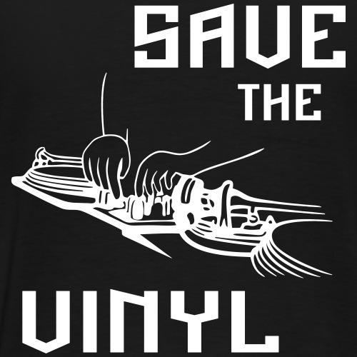 save the vinyl - dj - Men's Premium T-Shirt