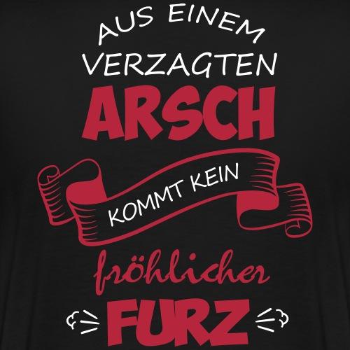 Fröhlicher Furz Spruch - Männer Premium T-Shirt