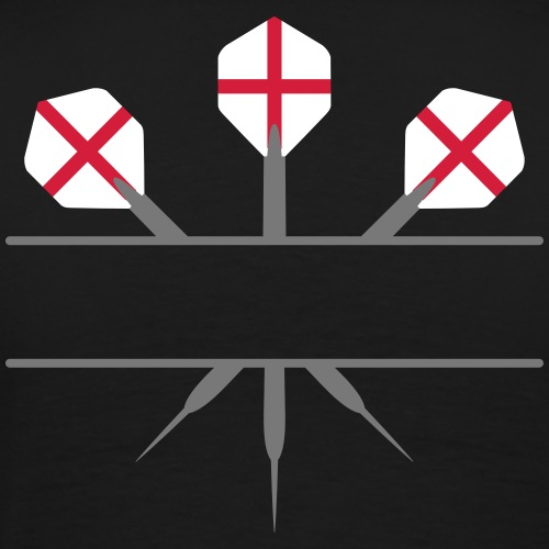 3_darts_two_colors_cross - Männer Premium T-Shirt