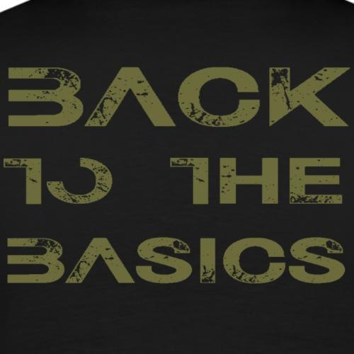 Back to the basics - Mannen Premium T-shirt