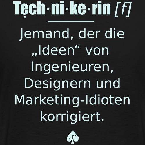 Technikerin - Männer Premium T-Shirt