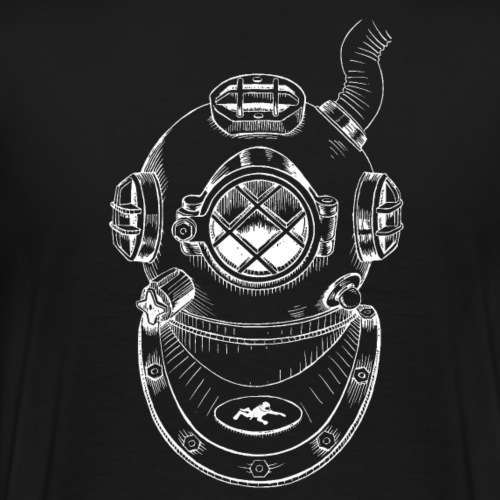 Taucherhelm_Weiß - Männer Premium T-Shirt