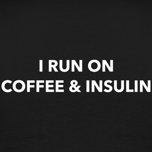 I Run on Coffee & Insulin v2 - Miesten premium t-paita
