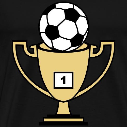 Pokal mit Fussball - Männer Premium T-Shirt