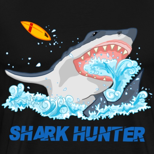 SHARK_HUNTER.png - Men's Premium T-Shirt