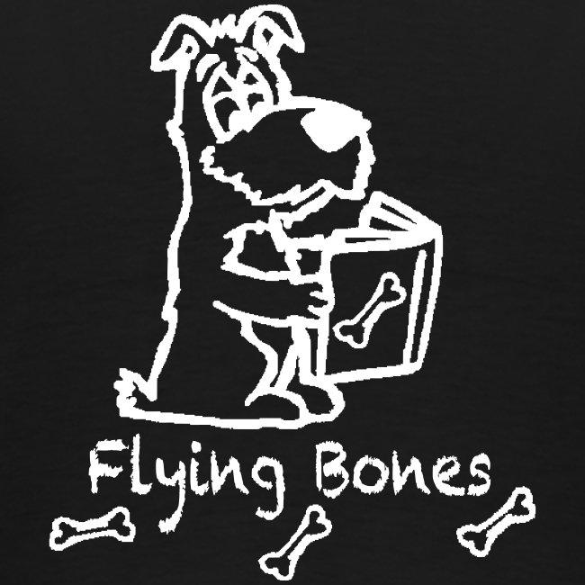 flying bones shirtschwarz