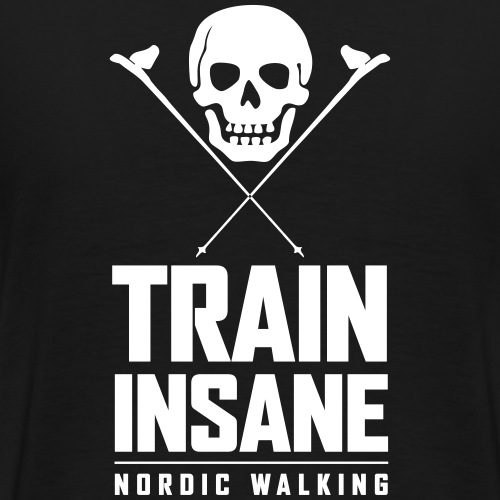 Nordic Walking - Skull - Miesten premium t-paita