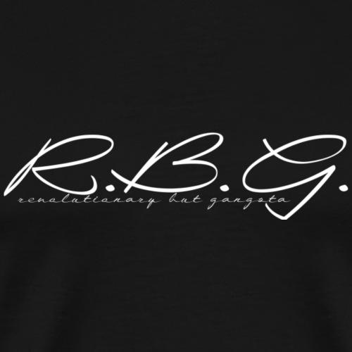 rbg white logo - Männer Premium T-Shirt