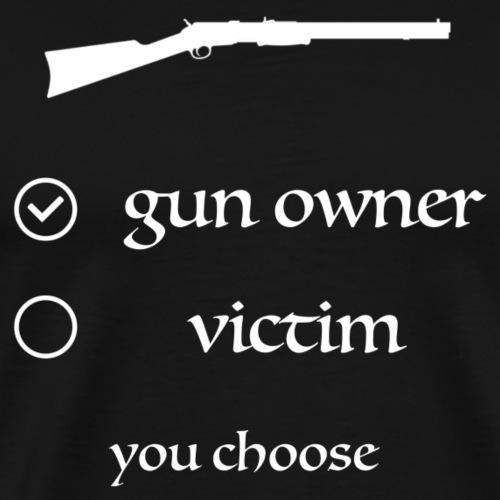 gun owner white logo - Männer Premium T-Shirt