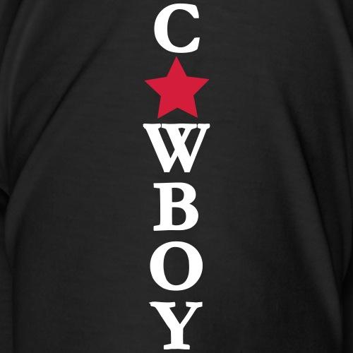 Cowboy mit Stern Pfad - Männer Premium T-Shirt