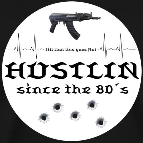 Hustlin since white logo - Männer Premium T-Shirt