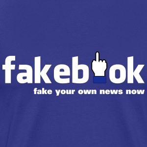 Fakebook - Premium T-skjorte for menn