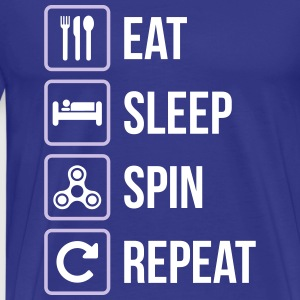 Eat Sleep Spin herhalen - Mannen Premium T-shirt