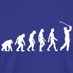 Evolutionen af ​​golf - Herre premium T-shirt