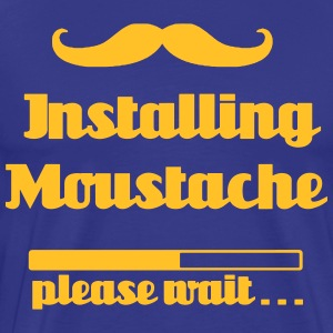 Installing Moustache, please wait - Männer Premium T-Shirt