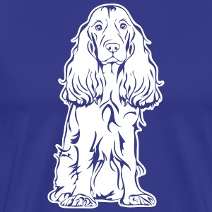 COCKER SPANIEL sitting - Men's Premium T-Shirt