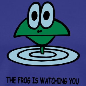 the frog is watching you - Men's Premium T-Shirt