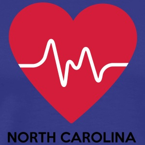 Heart North Carolina - Men's Premium T-Shirt