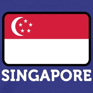 National Flag Of Singapore - Herre premium T-shirt
