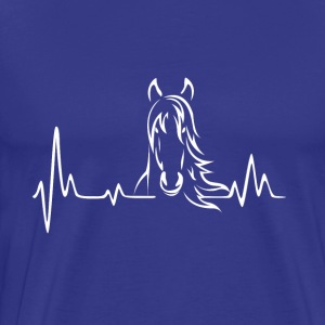 Heartbeat frequency horses - Men's Premium T-Shirt