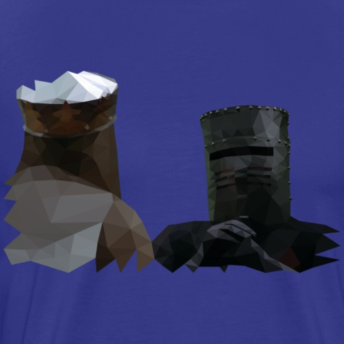 King Arthur and the Black Knight - Monty Python - Mannen Premium T-shirt