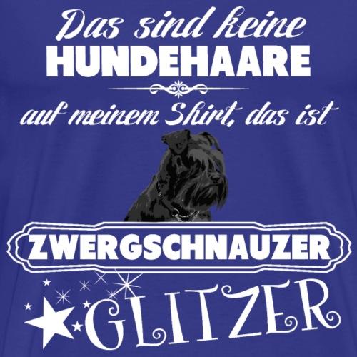 SCHWARZER ZWERGSCHNAUZER Glitzer - Männer Premium T-Shirt