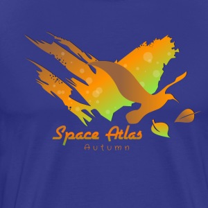 Space Atlas T-shirt van Autumn Leaves - Mannen Premium T-shirt