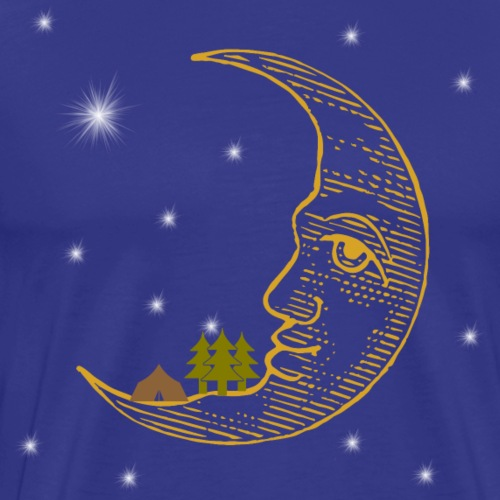 Camping On The Moon Under The Stars - Men's Premium T-Shirt