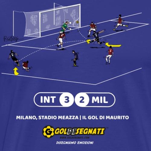 INT-MIL 3-2 Il Gol di Maurito - Maglietta Premium da uomo