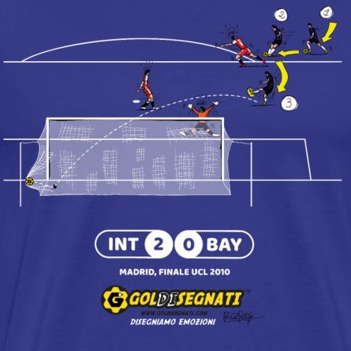 INT-BAY 2-0 Il raddoppio del Principe - Maglietta Premium da uomo