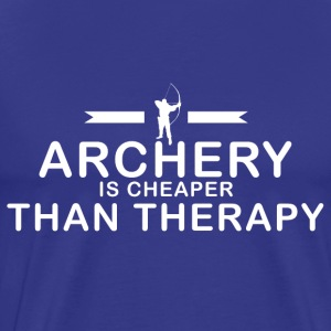 Archery is cheaper than therapy - Men's Premium T-Shirt