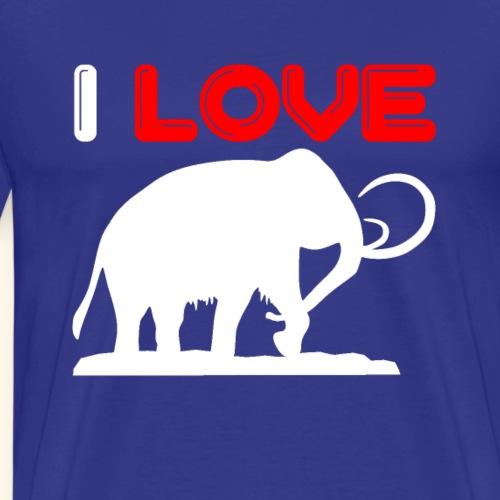 Ich liebe Mammuts - Männer Premium T-Shirt