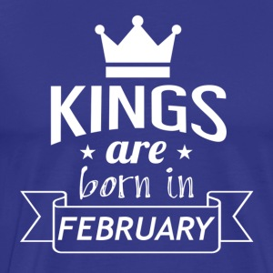KINGS geboren in februari - Mannen Premium T-shirt