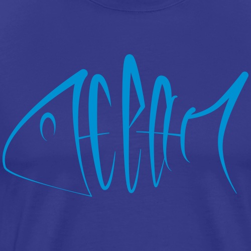 OceanTypo - Männer Premium T-Shirt