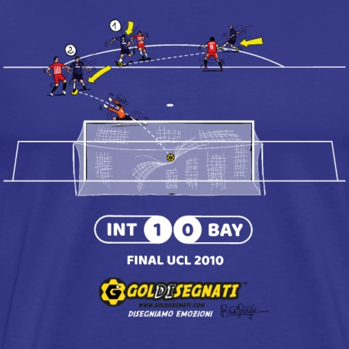 INT-BAY 1-0 FINALE UCL 2010 - Maglietta Premium da uomo
