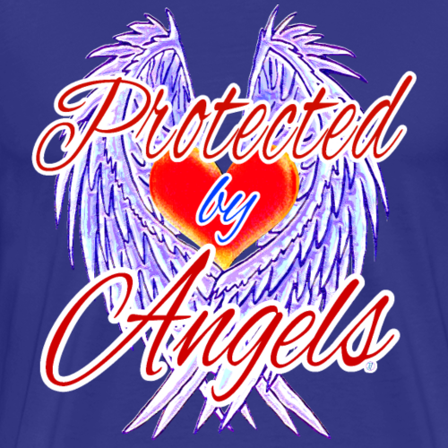 Protected by angels - Men's Premium T-Shirt