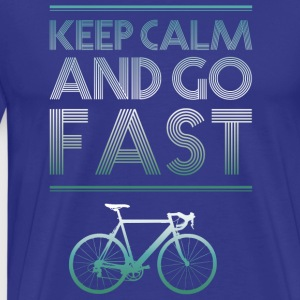 keep Calm Go Bike bicycle road racers Sport spr - Men's Premium T-Shirt