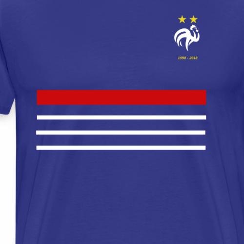 Maillot France 98 2018 Equipe de France 2 etoiles - T-shirt Premium Homme