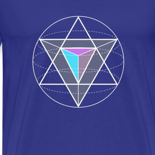 dreieckkreis Geometrie Mathe Nerd Game hipster gee - Männer Premium T-Shirt