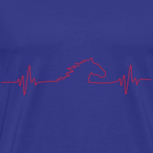 HORSEfrequency_Pferdeherzschlag - Männer Premium T-Shirt