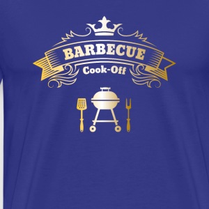 barbecue grill meester Koning Best steak mes - Mannen Premium T-shirt