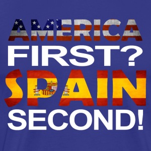 America First spain andre - Premium T-skjorte for menn