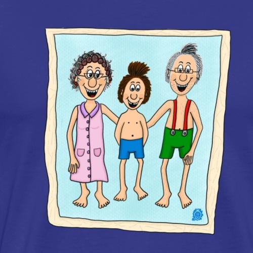 Uffi mit Oma und Opa - Männer Premium T-Shirt