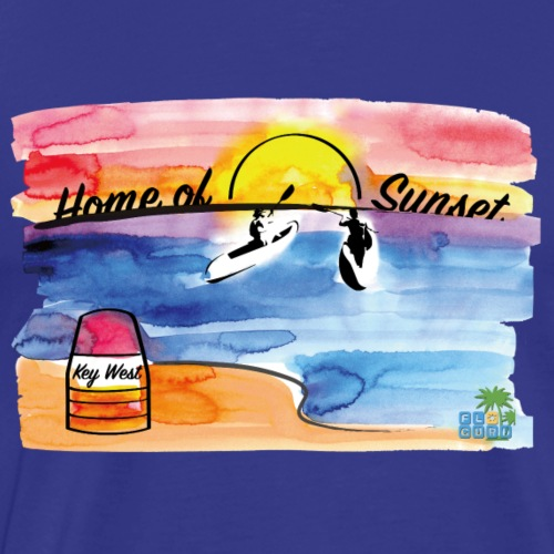 Key West - Home of Sunset - Männer Premium T-Shirt