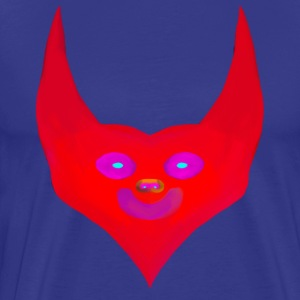 heart horns devil satan abstract - Männer Premium T-Shirt