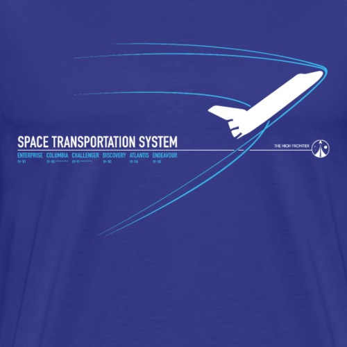Space Shuttle (Blue print) - Men's Premium T-Shirt