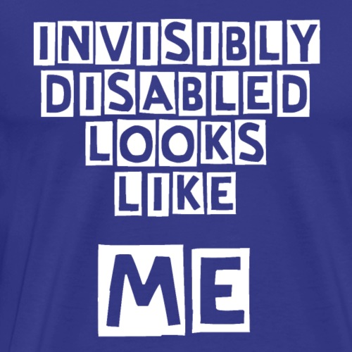 Invisibly Disabled White - Men's Premium T-Shirt