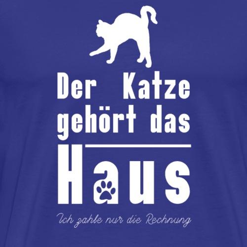 Lustiges Katzen T-Shirt Der Katze gehört das... - Männer Premium T-Shirt