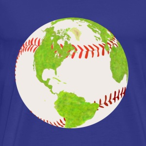 baseball globe earth planet earth globe - Men's Premium T-Shirt