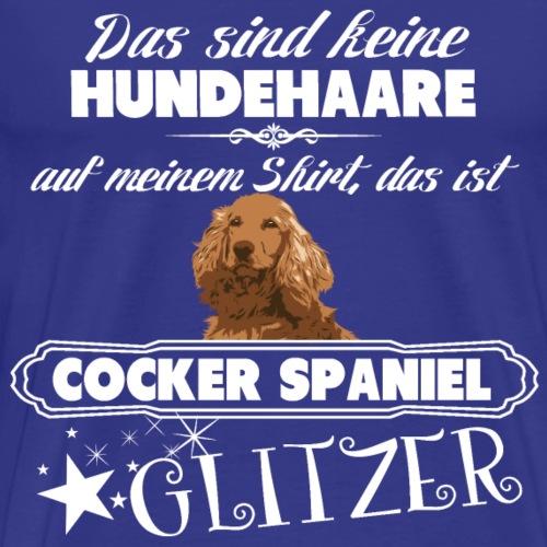 COCKER SPANIEL Glitzer - Männer Premium T-Shirt
